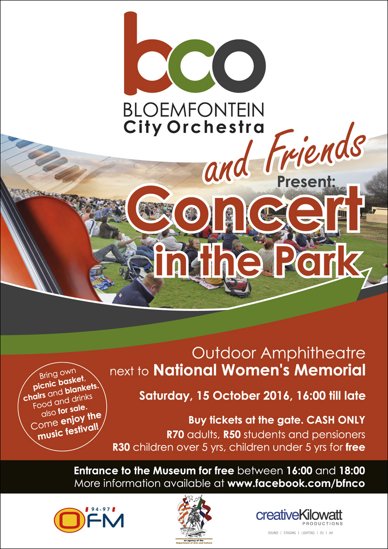Concert in the Park with the Bloemfontein City Orchestra and Friends